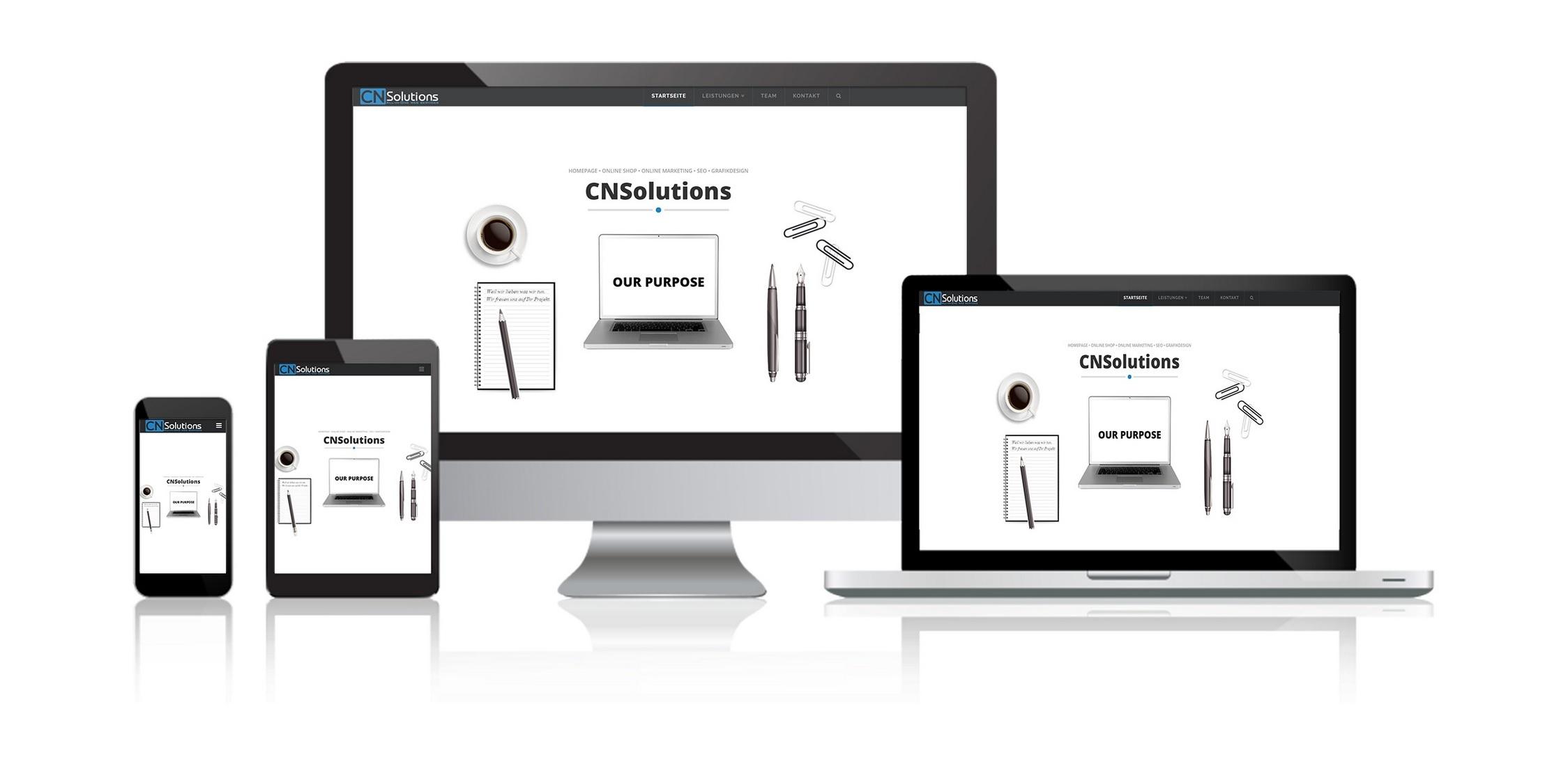 CNSolutions All-in-One web services - SEO - Webdesign - Online Marketing - Homepage und Online Shop - Grafikdesign